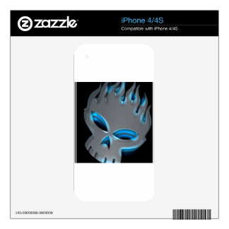 Abstract Cool Offspring Skull Skins For iPhone 4S
