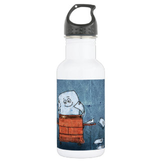 Abstract Cool Paper Guy Copies Stainless Steel Water Bottle