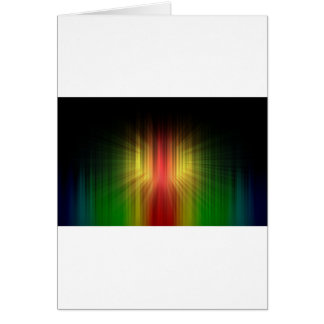 Abstract Cool Prism of Light Lines Card