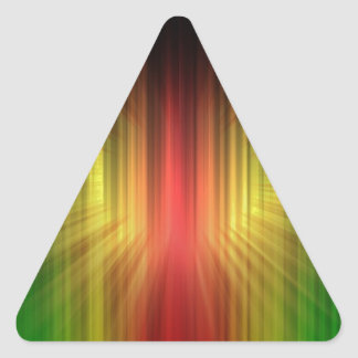 Abstract Cool Prism of Light Lines Triangle Sticker