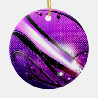 Abstract Cool Purple Revolver Ceramic Ornament