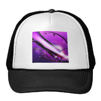 Abstract Cool Purple Revolver Trucker Hat