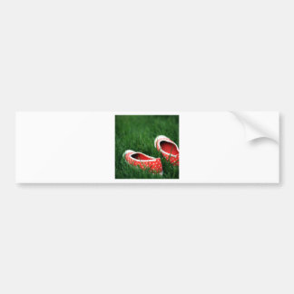 Abstract Cool Red Slip Shoes Car Bumper Sticker