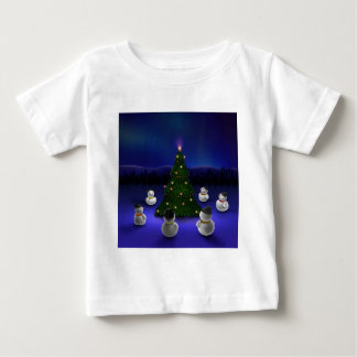 Abstract Cool Snowmen Gathering T-shirt