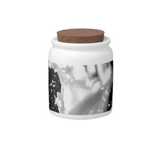 Abstract Cool Splash Of Love Candy Dishes