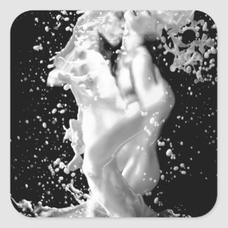 Abstract Cool Splash Of Love Square Sticker
