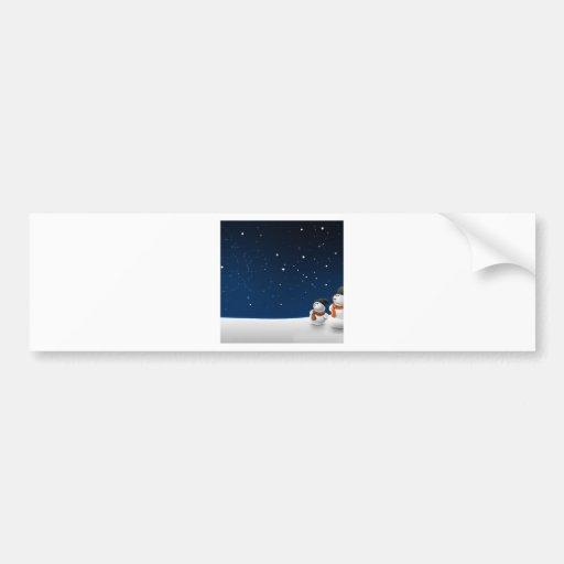 Abstract Cool Starry Snow Land Bumper Stickers