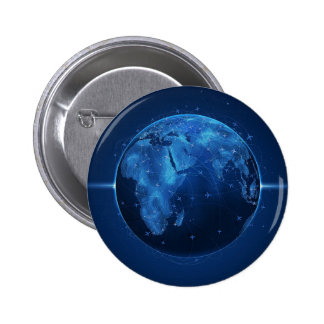 Abstract Cool The Global Works Pinback Button