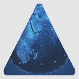 Abstract Cool The Global Works Triangle Sticker