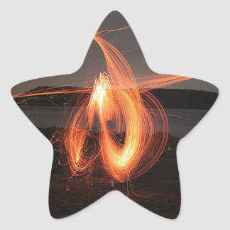Abstract Cool The Speed Of Light Star Sticker