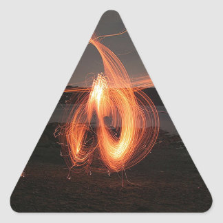 Abstract Cool The Speed Of Light Triangle Sticker