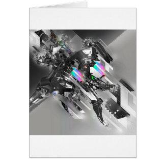 Abstract Cool Transformation Robotics Greeting Card