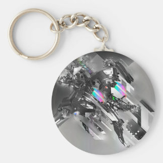Abstract Cool Transformation Robotics Key Chain