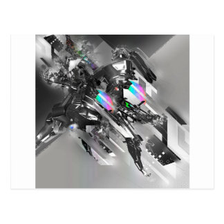 Abstract Cool Transformation Robotics Postcard
