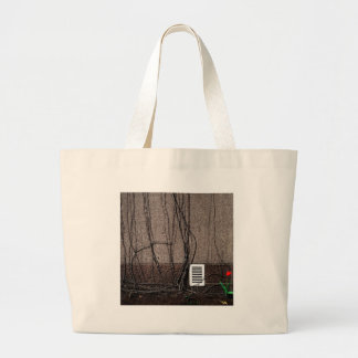 Abstract Cool Uncertain Rose Tote Bags