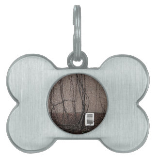 Abstract Cool Uncertain Rose Pet Name Tags
