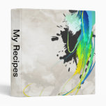 Abstract cool waters Paint Splatters Binder