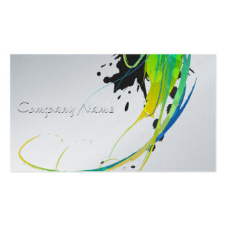 Abstract Cool Waters Paint Splatters Business Cards