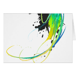 Abstract cool waters Paint Splatters Card
