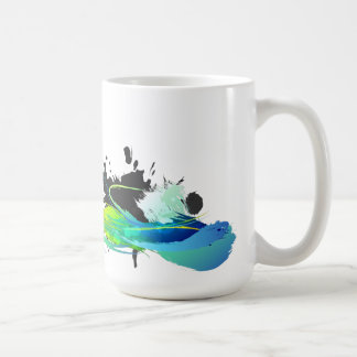 Abstract cool waters Paint Splatters Coffee Mug