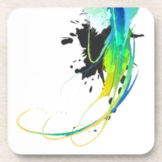 Abstract cool waters Paint Splatters Drink Coaster