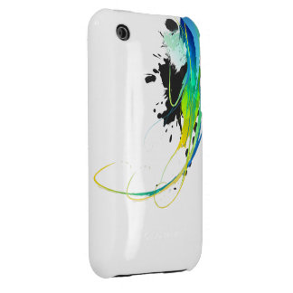 Abstract cool waters Paint Splatters iPhone 3 Cover