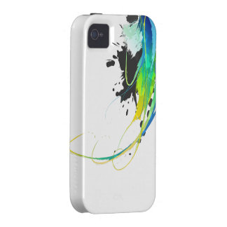 Abstract cool waters Paint Splatters iPhone 4/4S Cases
