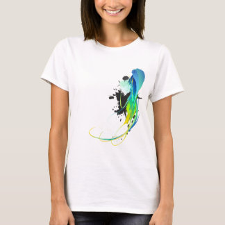 Abstract cool waters Paint Splatters T-Shirt