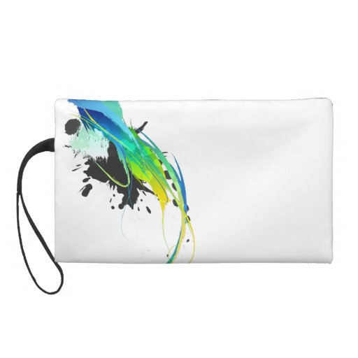 Abstract cool waters Paint Splatters Wristlets