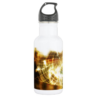 Abstract Cool Wheat Webs Of Fire 18oz Water Bottle