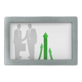Abstract Cooperation Background Rectangular Belt Buckles