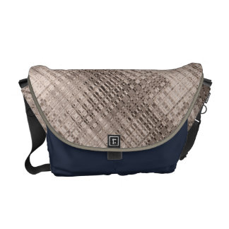Abstract Copper Pattern Courier Bag