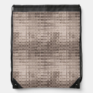 Abstract Copper Pattern Drawstring Bag