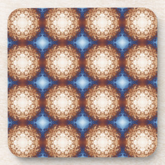 Abstract Copper Pattern Drink Coaster