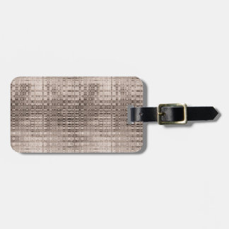 Abstract Copper Pattern Luggage Tag