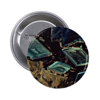 Abstract Copper sulphate crystals Pin