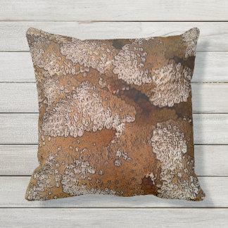 Abstract Coral Sea Life Outdoor Pillow