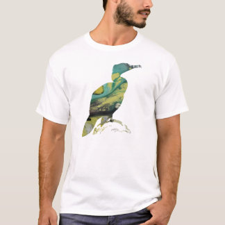 Abstract Cormorant Silhouette T-Shirt