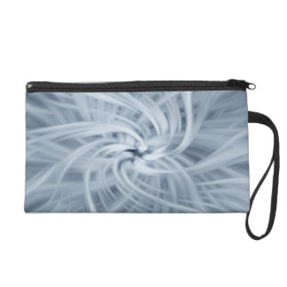 Abstract Cosmic Blue Misty Star Wristlet Purses