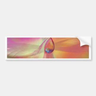 abstract cosmic orange designed by Tutti Bumper Sticker