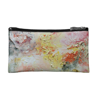 Abstract Cotton Candy Bagette Makeup Bags