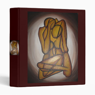 Abstract Couple 3 Ring Binder