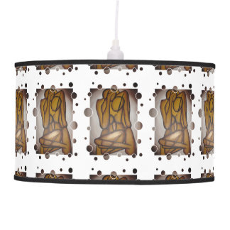 Abstract Couple in Brown Pendant Lamps