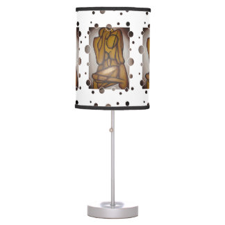 Abstract Couple in Brown Table Lamps