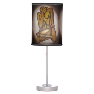 Abstract Couple Table Lamp