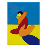 Abstract Couple On Beach Poster