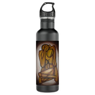 Abstract Couple 24oz Water Bottle