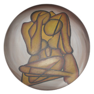 Abstract Couple Party Plates