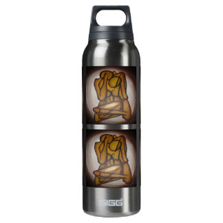 Abstract Couple 16 Oz Insulated SIGG Thermos Water Bottle