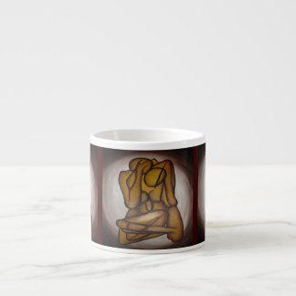 Abstract Couple 6 Oz Ceramic Espresso Cup